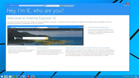 Internet Explorer 12 Welcome screen by Studio384 on DeviantArt