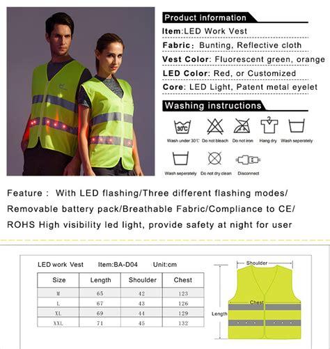 Laris Rompi Proyek Orange Bahan Kain Polyester pabrik pasokan led keselamatan reflektif rompi pekerja pakaian keamanan reflektif id