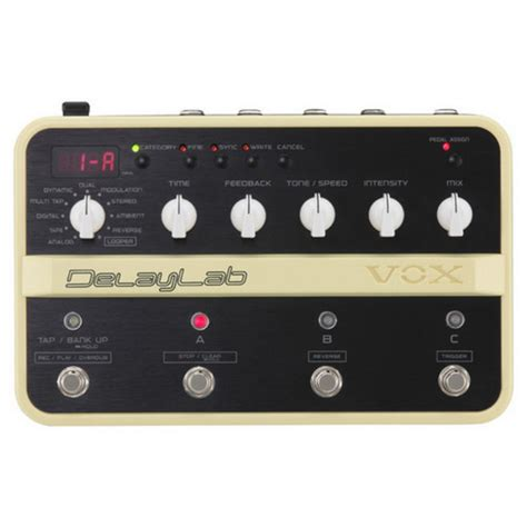 Effect Delay Vox Delay Lab vox delaylab delay effects pedal at gear4music