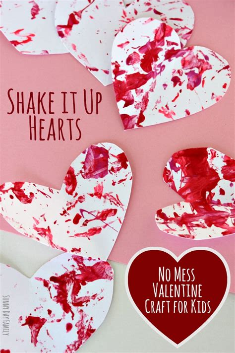 valentines preschool shake it up hearts no mess craft for