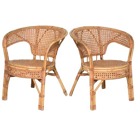cane armchairs vintage pair of french vintage provence cane armchair at 1stdibs