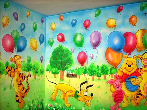 Wall Murals For Schools eye catching painting ideas for smart kids room home