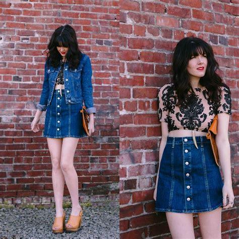 Hq 10334 Denim Skirt With 1 with jean skirts redskirtz