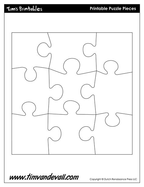 puzzle template printable puzzle shapes template tim s printables