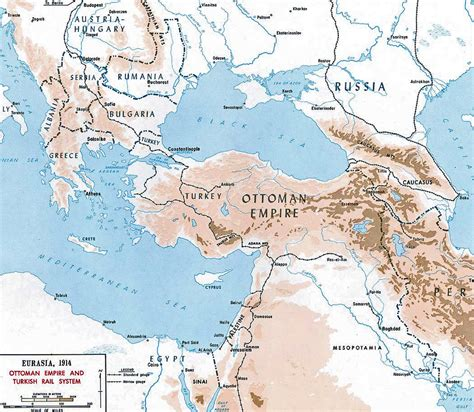 ottoman empire map ottoman empire s rail system 1914 full size