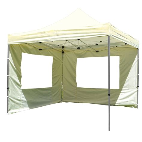 pop up creme pavillon 3 x 3 m mit seitenteilen mwd