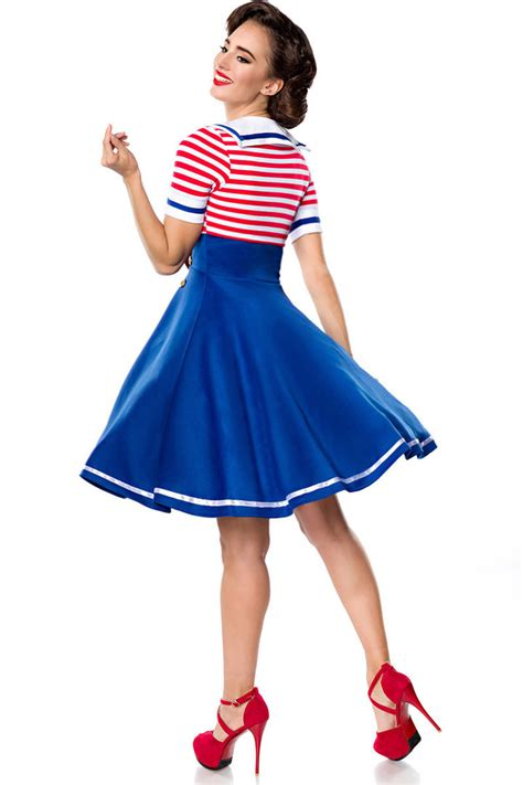 swing kleid rot belsira 50er jahre retro swing kleid marine dress blau