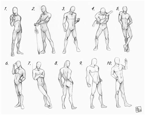 Drawing References Poses by Character Design Bodies Poses On Character