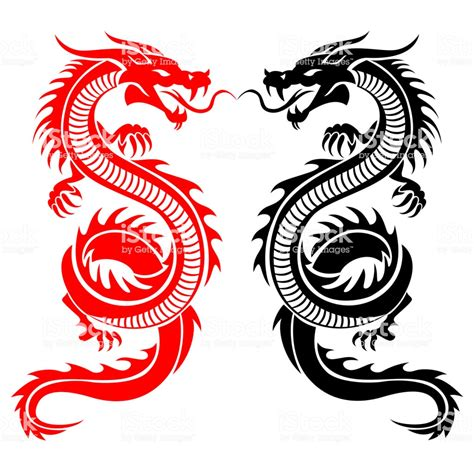dragon tattoo vector illustration for tribal stock vector more images of