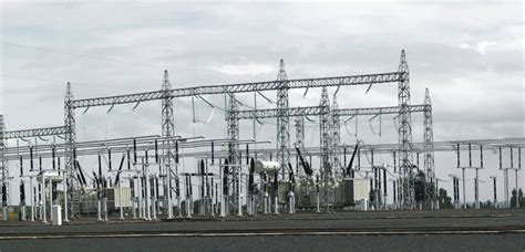 layout of grid substation 400kv substation and power transmission line project in