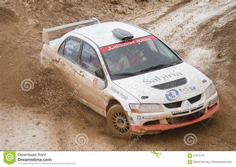 2015 mitsubishi rally car mitsubishi lancer evo viii rally car editorial photo