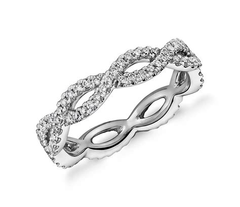 Infinity Twist Eternity Ring In K  Ee  White Ee    Ee  Gold Ee   Ct Tw