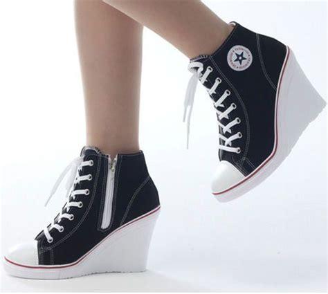 converse high heels wedges trainers heels sneakers platform high top ups zip