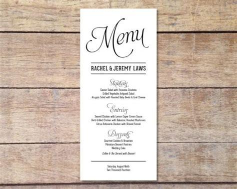 design menu simple simple wedding menu customizable elegant design
