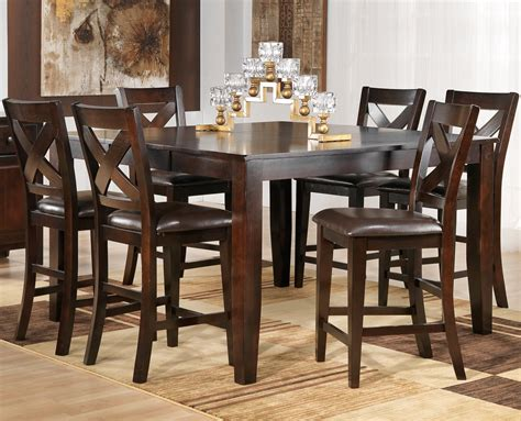 Kitchen Dining Room Table Sets Dining Room Pub Style Dining Set With Square Table Made From Teakwood With Pub Style