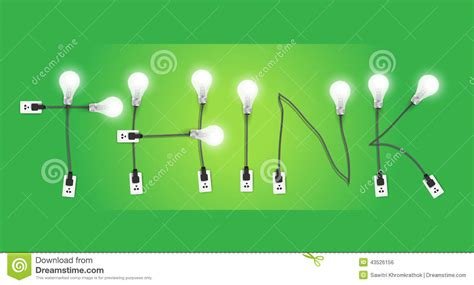 Why Think Options Are A Idea by Light Bulb Ideas Concept Template Vector Illustration