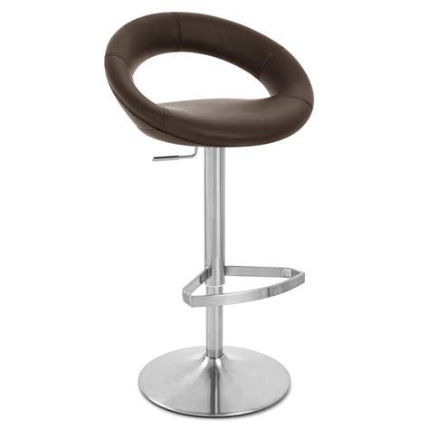 bar stools and bar crescent adjustable height swivel armless bar stool zuri
