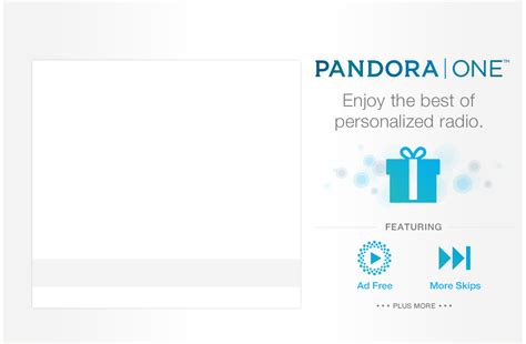 Pandora One Gift Cards - pandora gift subscription