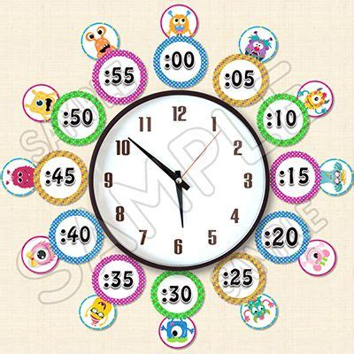 themes clock time telling time monster clock labels monster themed classroom