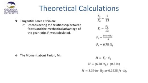 Rack And Pinion Formulas by Milestone 3