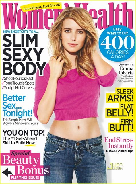 women magazine emma roberts covers women s health april 2011 photo