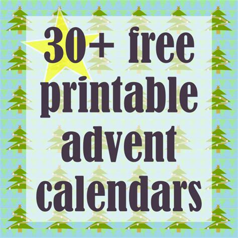 30 free printable diy advent calendars ausdruckbare