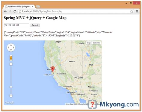 Maps Api Search Address Mvc Find Location Using Ip Address Jquery Map