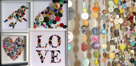 Cheap Cool Home Decor by 15 Diy Button Ideas Cool Crafts You Can Make With Buttons