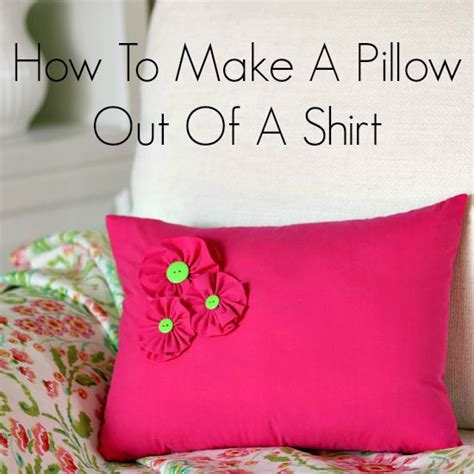 How To Sew A Throw Pillow by How To Make A Pillow Out Of A Shirt So Sew Easy