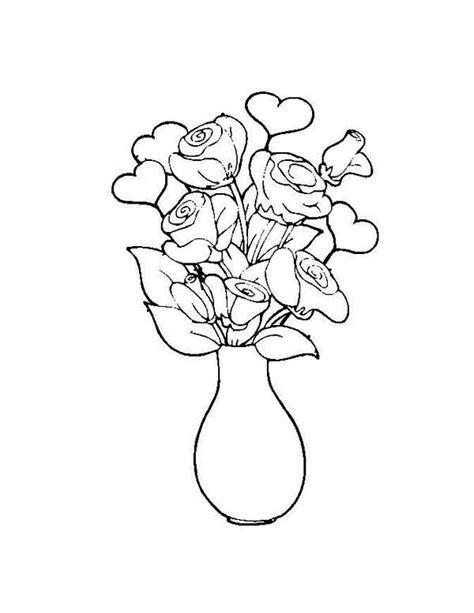 flower   vase coloring page netart