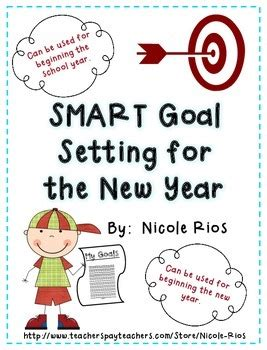new year goal setting free new year 2018 smart goal setting flip book by