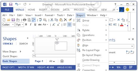 upgrade visio 2010 to 2013 show classic menus and toolbars on ribbon of visio 2010