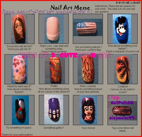 Meme Nail Art - nail art meme by socuteiclenails on deviantart