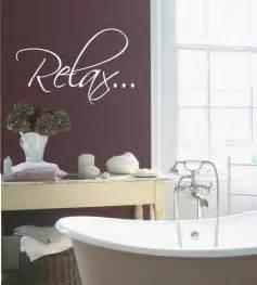 wall decals bathroom bath tub relax bathroom relax vinyl wall quote decal by