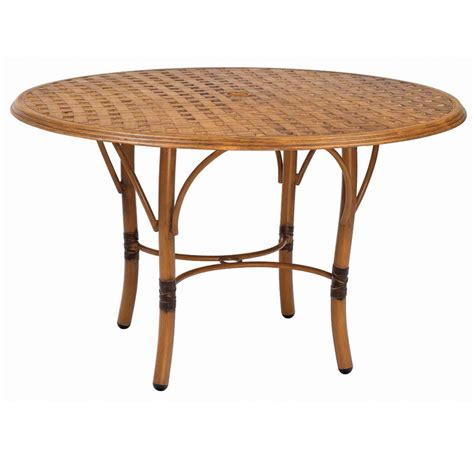 glade isle 48 inch dining table woodard at