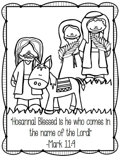palm sunday printables coloring pages