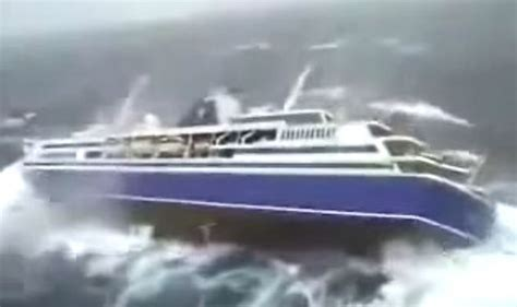 big boat videos viral video cruise ship battered by waves in stomach