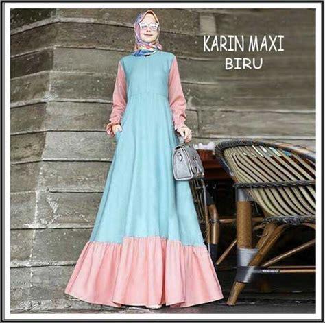 Karin Maxi Maxy Muslim Gamis shop baju hijabers remaja cantik bahan balotelli