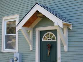 exterior door awning bungalow restoration side door overhang
