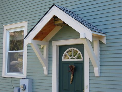 small awning over back door bungalow restoration side door overhang