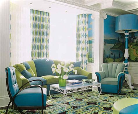 blue room design green and blue living room interior design ideas with