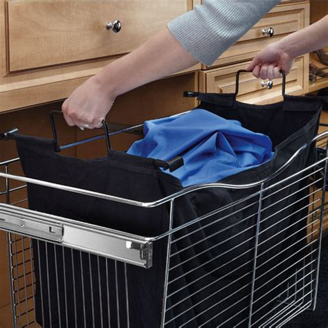 Rev A Shelf Laundry by Closet Her Bag Insert In Black Canvas For Cb Series