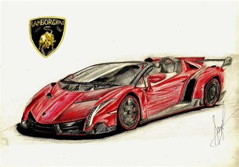 lamborghini sketch drawn lamborghini lamborghini veneno roadster pencil and