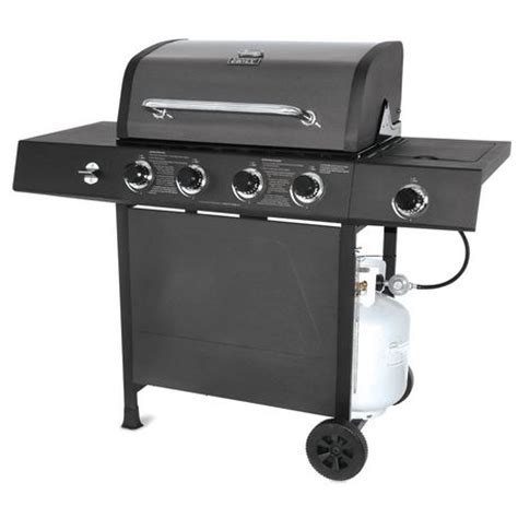 backyard grill pewter fleck lid 4 burner gas grill bbq