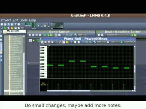 tutorial lmms youtube lmms tutorial 1 6 dodawanie instrument 243 w melodii i