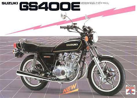 Suzuki Gs400 For Sale Suzuki Gs400e Brochures