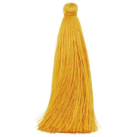 Tassel Outer 8 20 pcs high quality rayon silk tassels 8 cm golden yellow handmade diy tassel for jewelry