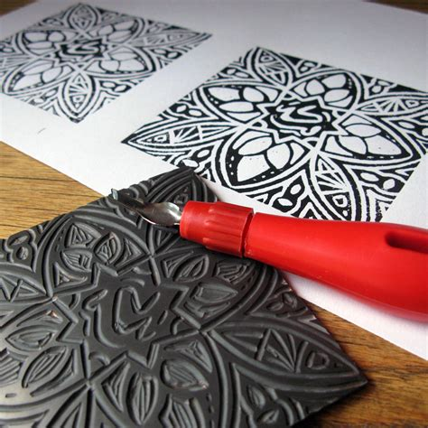Decorative Artists by Linocut Printmaking Daff Workshops