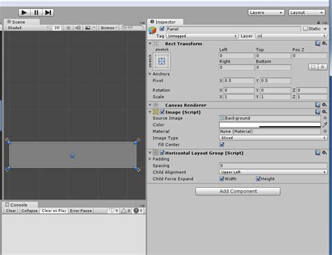 unity panel layout codingtrabla unity3d horizontal layout group add cells