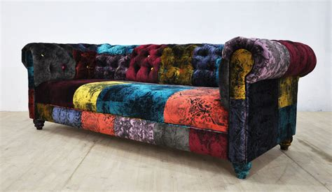 Patchwork Sofas - chesterfield patchwork sofa walton patchwork